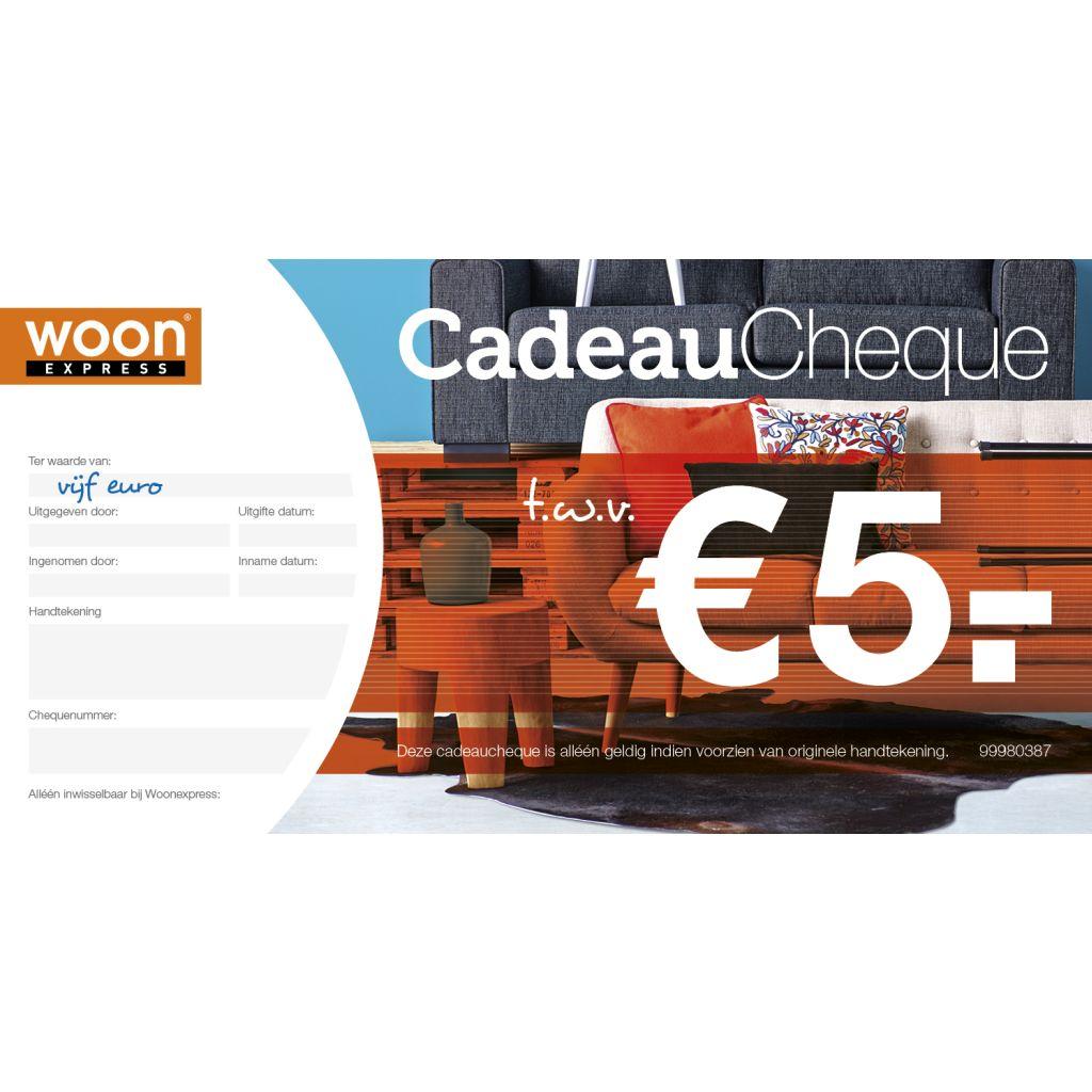Woonexpress CADEAUCHEQUE t.w.v. 5, Rood